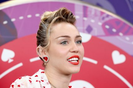 Pansexual celebrity Miley Cyrus