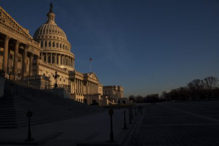 WASHINGTON, D.C. - MARCH 20: The sun rises near The United States Capitol Building on March 20, 2017 in Washington, D.C. The Senate will hold a confirmation hearing for Supreme Court Nominee Neil Gorsuch and FBI Director James Comey will testify before the House Permanent Select Committee on Intelligence on alleged Russian interference in the 2016 election. (Photo by Zach Gibson/Getty Images)