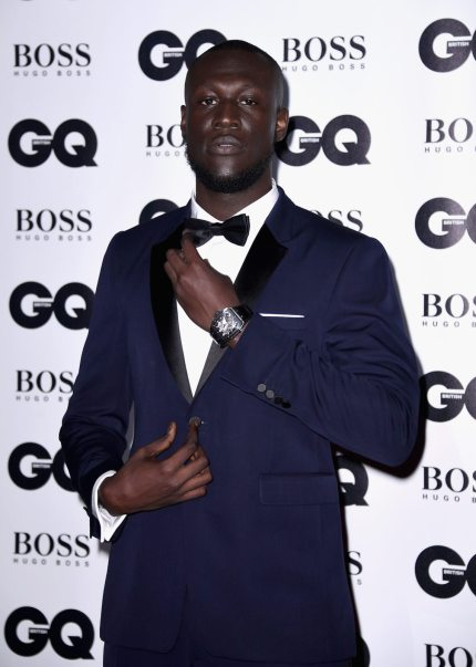 LONDON, ENGLAND - SEPTEMBER 05:  Stormzy attends the GQ Men Of The Year Awards at the Tate Modern on September 5, 2017 in London, England.  (Photo by Gareth Cattermole/Getty Images)