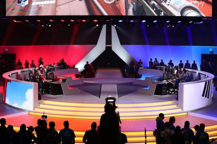 ANAHEIM, CA - November 4: Team Canada in action against South Korea during the Overwatch World Cup Final at BlizzCon 2017 at Anaheim Convention Center on November 3, 2017 in Anaheim, California. (Photo by Joe Scarnici/Getty Images)