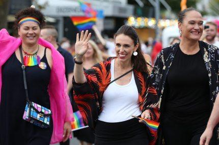 New Zealand Prime Minister Jacinda Arden at Pride (Getty)