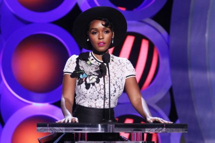 SANTA MONICA, CA - MARCH 03:  Actor/singer Janelle Monae speaks onstage during the 2018 Film Independent Spirit Awards on March 3, 2018 in Santa Monica, California.  (Photo by Tommaso Boddi/Getty Images)