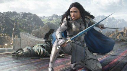 Tessa Thompson as Valkyrie in Thor: Ragnorok