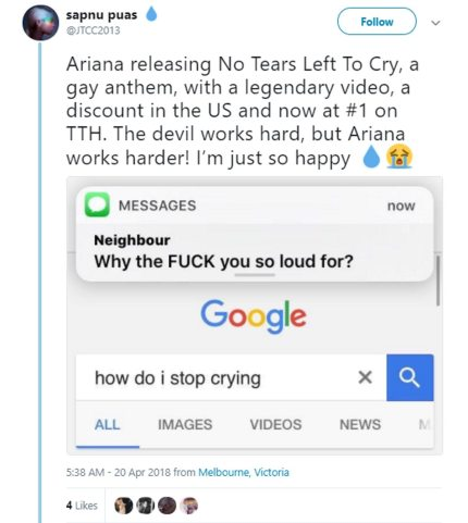 ariana grande no tears left to cry lyrics free download