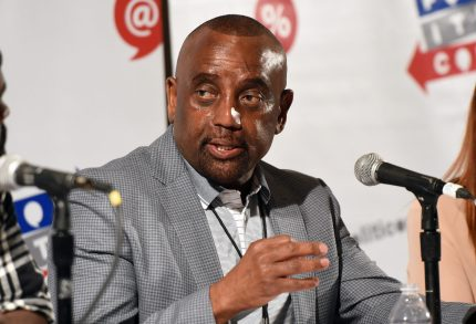 PASADENA, CA - JULY 29: Jesse Lee Peterson at the 'Fatherhood, Community, and Our Cities' panel during Politicon at Pasadena Convention Center on July 29, 2017 in Pasadena, California. (Photo by Joshua Blanchard/Getty Images for Politicon)