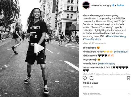 An Instagram post celebrating the initiative (Alexander Wang/Instagram)