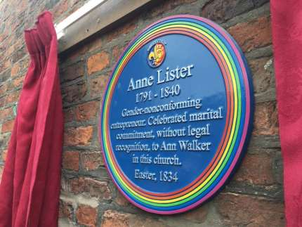 """The plaque was marred by controversy as it originally only defined Anne Listeras """"gender non-conforming."""""""