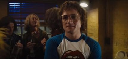 Taron Egerton plays Elton John in Rocketman, where he filmed a sex scene with Richard Madden.
