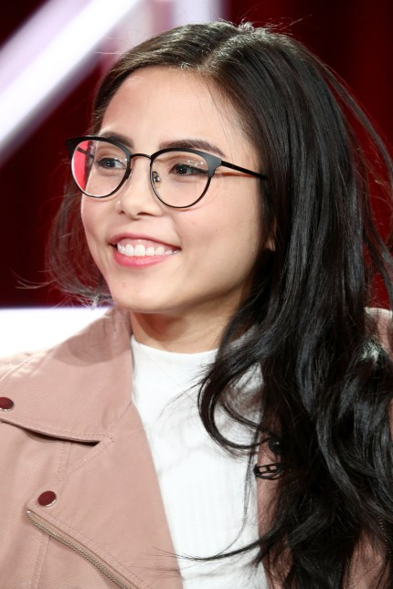PASADENA, CA - JANUARY 13: Actor/executive producer Anna Akana of 'Youth & Consequences' speaks onstage during the YouTube portion of the 2018 Winter Television Critics Association Press Tour at The Langham Huntington, Pasadena on January 13, 2018 in Pasadena, California. (Photo by Frederick M. Brown/Getty Images)