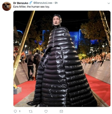 Social media users compared Ezra Miller's Fantastic Beasts look to a human sex toy