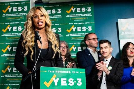 Best LGBT quotes 2018: Laverne Cox campaigns during the US midterm election