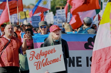 Demonstration in solidarity with asylum seekers like Roxsana Hernandez, who died while in ICE custody.