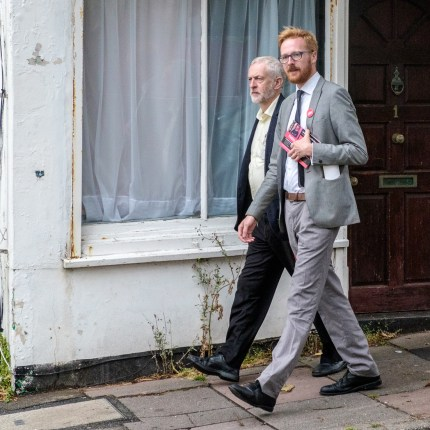 Lloyd Russell-Moyle with Jeremy Corbyn