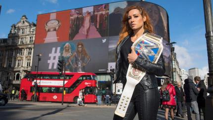 WWE's Becky Lynch in London.
