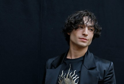 Polyamorous star Ezra Miller attends the Vivienne Westwood show during London Fashion Week
