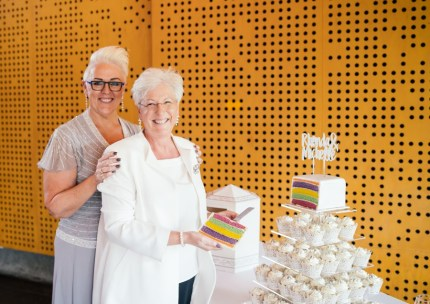 Michelle and Rhonda Redfern who shared their experience of same-sex marriage in Australia with PinkNews