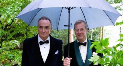 A picture from Ivar Mountbatten's wedding, which made LGBT+ history celebrating the first gay royal wedding in September.