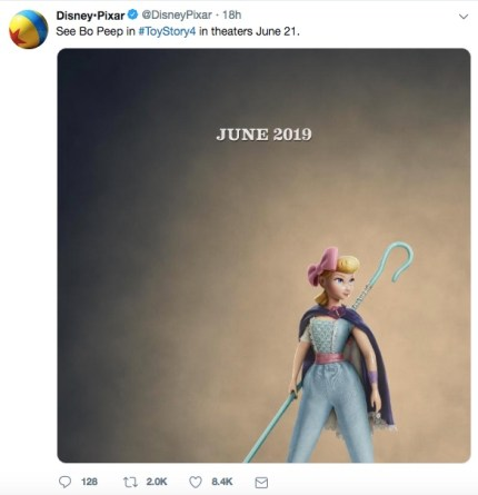 Bo Peep as pictured for Toy Story 4