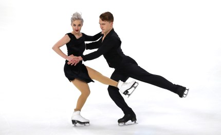 Karina Manta and Joseph Johnson dance to Sweet Dreams (Are Made of This) at the U.S. Figure Skating Championships at Little Caesars Arena on January 25, 2019 in Detroit, Michigan.