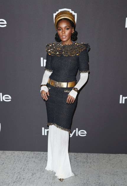 Janelle Monae at the Golden Globes 2019