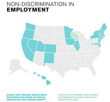 State Equality Index: Two-thirds of states have no discrimination protections for LGBT+ people in employment