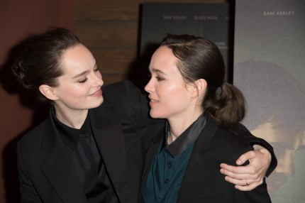 """Emma Portner and Ellen Page attend the screening of IFC Films """"The Cured"""" at AMC Dine-In Sunset 5 on February 20, 2018"""