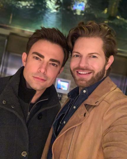 An Instagram photo of Jaymes Vaughan and Jonathan Bennett