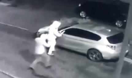 Two men vandalise Tia Latham's car