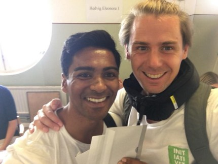 Michael Wernstedt and Lemarc Thomas, who got married in Saint Helena in 2018, smile at the camera