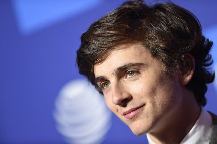 Spotlight award recipient actor Timothee Chalamet arrives for the 30th Annual Palm Springs International Film Festival Awards Gala at the Convention Centre in Palm Springs on January 3 2019