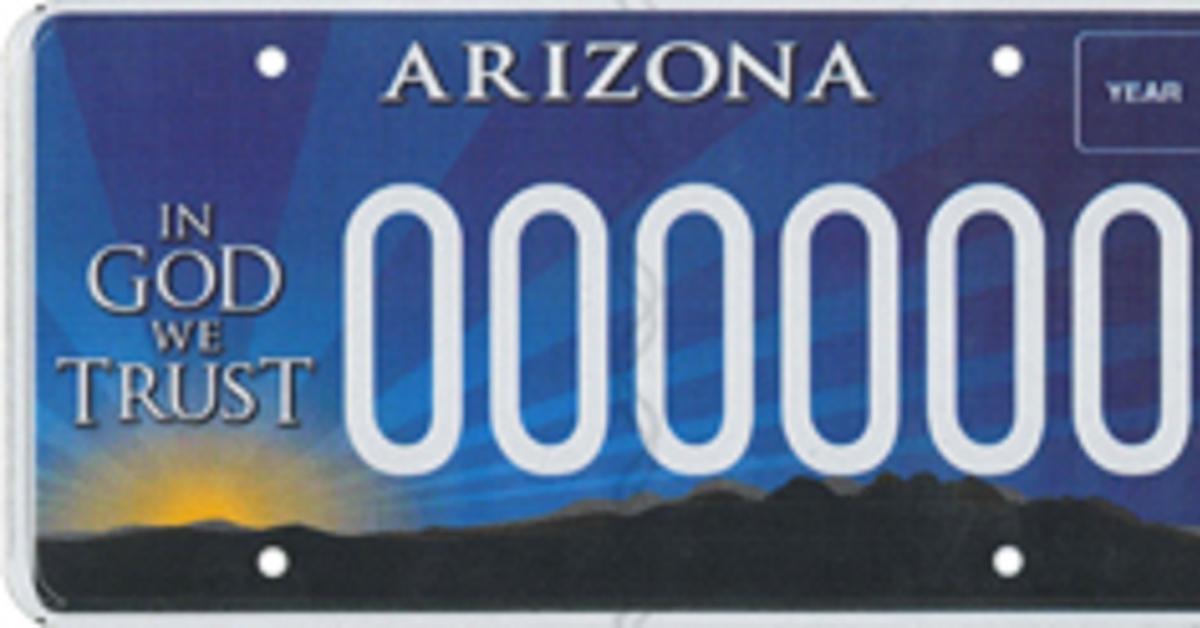 Drivers Plates Arizona License