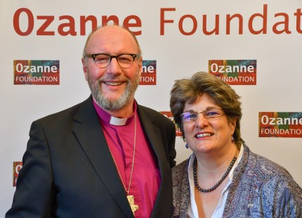 The Bishop of Liverpool Paul Bayes with Jayne Ozanne