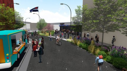 A mock-up of a proposed design for Eagle Plaza in San Francisco