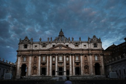 St. Peter's Square stands in the dawn light on September 03, 2018 in Vatican City, Vatican., where a summit on sexual abuse is due to open on February 21, coinciding with the release of a book claiming eight in ten priests are gay.