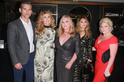"""Eric Bana, Connie Britton, Debra Newell, Juno Temple and Terra Newell attend the after party for Bravo's anthology series """"Dirty John"""""""