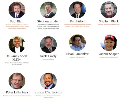 Gone Too Far's all-male organising committee