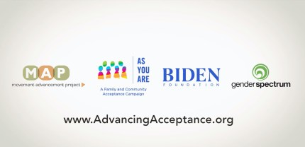 The Biden Foundation teamed up with other LGBT+ groups to launch the Advancing Acceptance campaign.