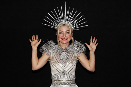 Kate Miller-Heidke poses after winning Eurovision - Australia Decides at Gold Coast Convention and Exhibition Centre on February 09, 2019 in Gold Coast, Australia