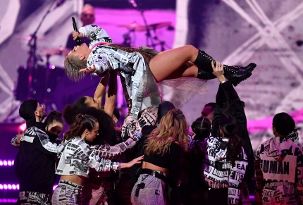 Pink performs during The BRIT Awards 2019 held at The O2 Arena on February 20, 2019 in London, England.