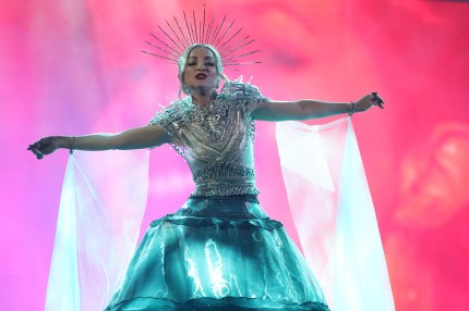 Kate Miller-Heidke performs during Eurovision - Australia Decides at Gold Coast Convention and Exhibition Centre on February 09, 2019 in Gold Coast, Australia