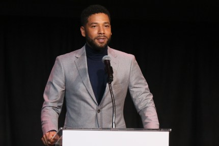 Jussie Smollett, who Ellen Page referenced on TV, speaks at the Children's Defense Fund California's 28th Annual Beat The Odds Awards at Skirball Cultural Center on December 6, 2018 in Los Angeles, California