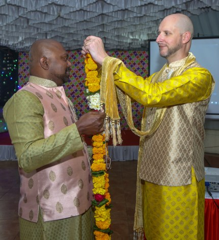 Vinodh Philip, from Mumbai, and Vincent Illaire, from France, who married in Paris, France in December last year