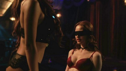 Riverdale characters Toni Topaz and Cheryl Blossom, known by their couple name of Choni, engage in sex play.