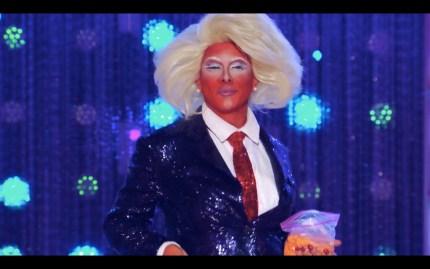 Shuga Cain serves Trump on Drag Race season 11.