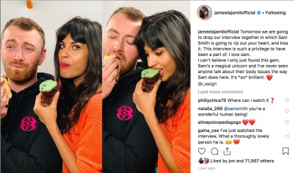 Jameela Jamil discusses her interview with Sam Smith.