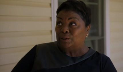 Tammye Hicks as she receives a bible on Queer Eye season 2, episode 1.