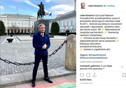 Gay politician Robert Biedron.