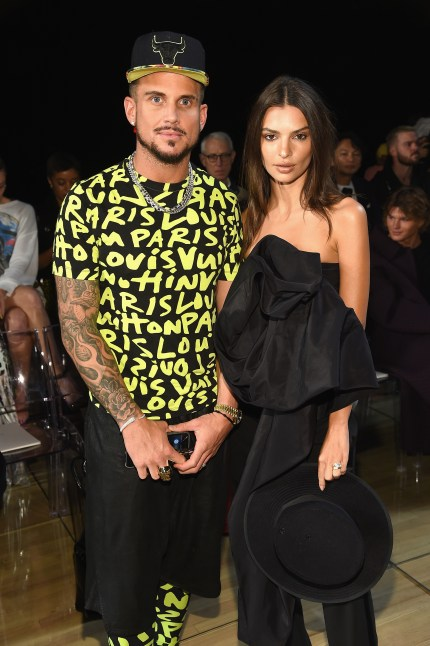 Charly DeFrancesco and Emily Ratajkowski attend the Marc Jacobs Spring 2019 Runway Front Row during New York Fashion Week: The Shows at Park Avenue Armory on September 12, 2018 in New York City.
