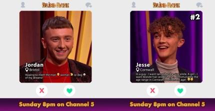Blind Date contestants Jordan Shannon and Jesse Drew