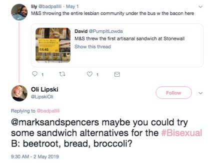 LGBT sandwich tweet.